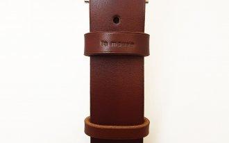 Atelier la mauve - Ceinture cuir pleine fleur / Taille 104 cm