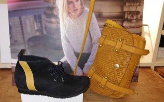 Élite chaussures - Arche noir et ocre